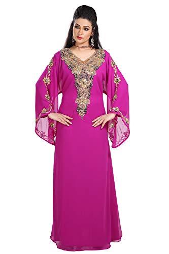 Maxim Creation Vestido de novia tradicional marroquí Kaftan JABODAR Abaya GANDOURA HOUTE COUTRE 7718