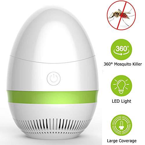 Ttdbd Lampe Anti-Moustique, piège à Insectes UV Portable 2 en 1 Moustique Zapper Tente lumière Lanterne de Camping Rechargeable pour Le Camping en Plein air intérieur,Vert