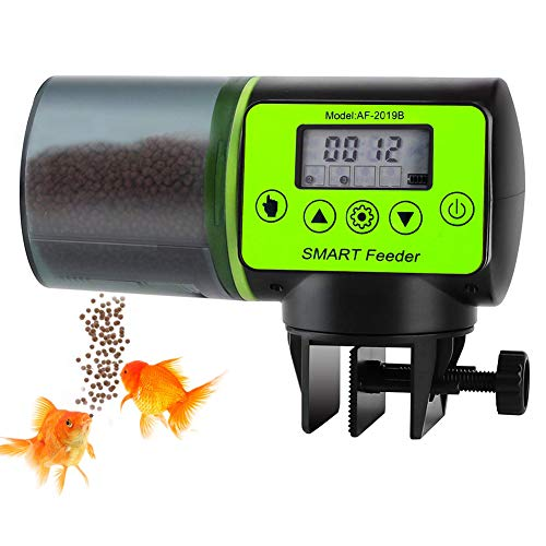 YIKANWEN Fischfutterautomat für Aquarium, Futterautomat für Fischfutter