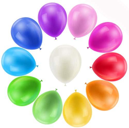 Globos de Cumpleaños, 100 Piezas Globos Colores, Globos Fiesta Cumpleaños Infantil, Globos Latex para Cumpleaños, Fiestas, Bodas, Propuestas, Reuniones y Otras Celebraciones