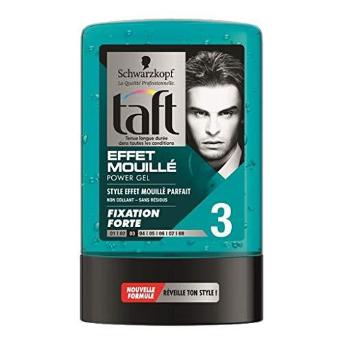 Schwarzkopf Taft Effet Mouillé Fixation Forte 3 Power Gel 300ml (lot de 3)