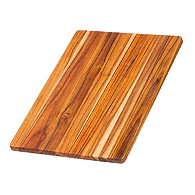 Wood Cutting Board - Teak 15  Rectangle Chopping And Serving Board (15.75 x 11 x .55 in.) - By Teakhaus