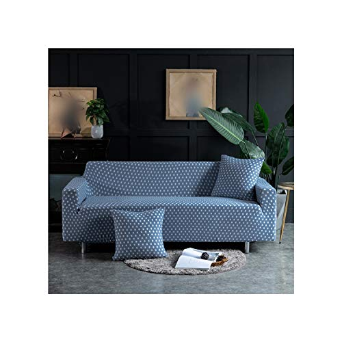 Cheryl Norri 1/2/3/4 Seat High Elastic Sofa Cover Soft Polyester Non Slip All Inclusive Slipcover Home Office Stretch Cover,Model 5,2 Seat (145-185Cm),CH