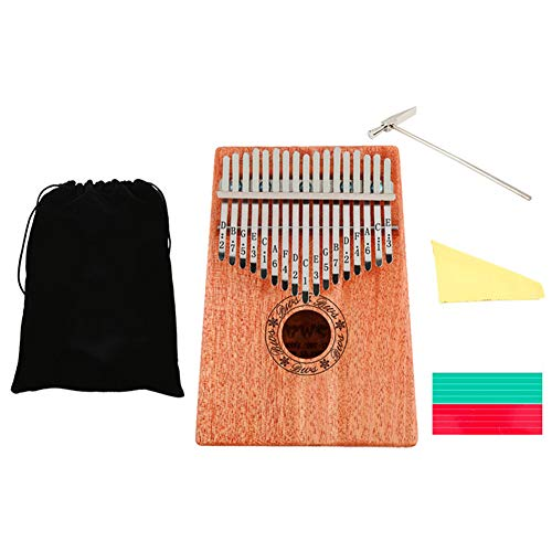 AYYNAM Kalimba 17 Key Thumb Piano Mahonie Marimbas Mbira Afrikaanse Vinger Piano Instrument voor Muziek Liefhebber En Beginner met Draagtas Muzikale Schaal Stickers Tuning Hammer