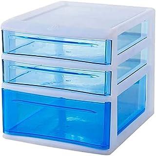 Classeurs Fichier Transparent Cabinet Bleu Bureau Bureau fichier Bureau Plastique Boîte de Rangement Accueil tiroirs Armoi...