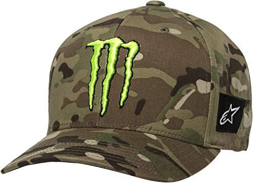 Alpinestars Monster Multi Gorra de béisbol, Green Camo, L-XL Unisex Adulto