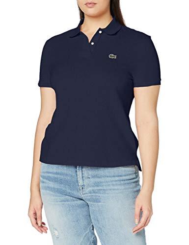 Lacoste Damen Poloshirt Pf7839,Blau (Marine),40 (Herstellergröße: 40)