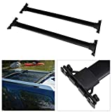 ANGLEWIDE Roof Rack Crossbars Aluminum Cargo Rack Fit For 2010-2014 2016-2019 For Toyota 4Runner Rooftop Cross Bars Top Rail Carries Luggage Carrier - Max Load 150LBS,Black