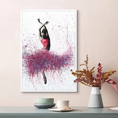 JHGJHK Chica Baile Ballet Sala de Estar decoración de la Pared Pintura Colorida Pintura Abstracta decoración de la Sala Pintura al óleo