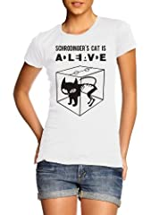Gato Schrodingers Chistosa Sheldon Camiseta para Mujer