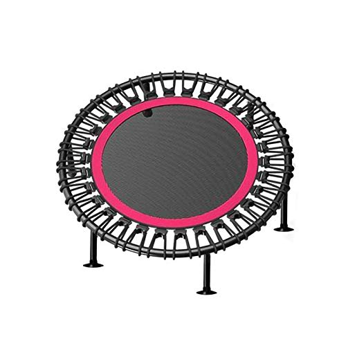 YYLL 40-inch Fitness Round Trampoline, no Install Non-folding, Outdoor Trampoline for Teenagers and Adults (Color : Green)