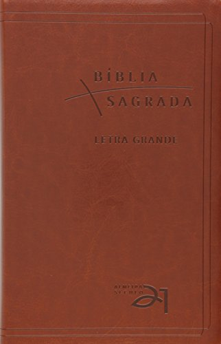 Bíblia A21 Letra grande luxo - marrom