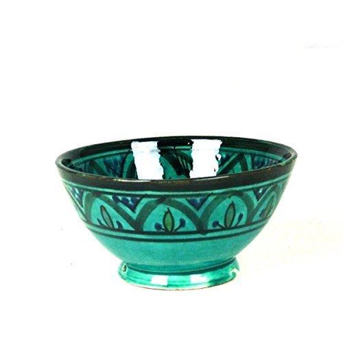 Orientalische marokkanische Keramikschale Keramik Obst Salat Reis Schale Schüssel Deko XXL Color Grün