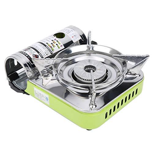 Pwshymi Cocina de Gas portátil portátil Que satisface Todas Sus Necesidades para Hombres y Mujeres para Festivales(Silver+Green)