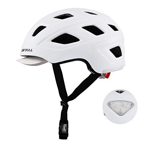 Casco Bicicleta,CE Certified- Adulto Unisexo Casco Bicicleta Montaña ,Casco Urbano con luz...