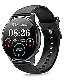 ManiGoo Smartwatch Donna Orologio Fitness, 1.28 Full Touch Orologio contapassi,Sonno Cardiofrequenzimetro,(SpO2) Orologio Fitness Tracker Impermeabile IP68,Smartwatch per Android iOS (Nero)
