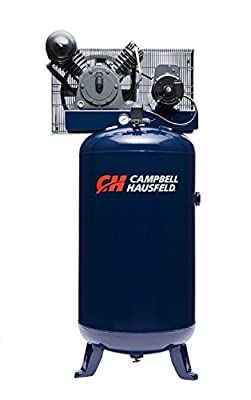 Air Compressor, 80 Gallon Vertical Two Stage 14CFM 5HP 208-230V 1PH (Campbell Hausfeld HS5180) by Campbell Hausfeld