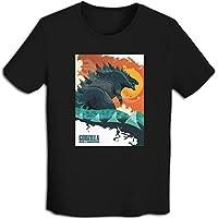 プリント 半袖シャツ メンズ T-Shirt ゴジラ、Godzilla Tシャツ Black S