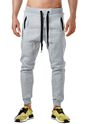 Young & Rich Herren Jogginghose Sweatpants 33-3313, Grösse:S;Farbe:Grau