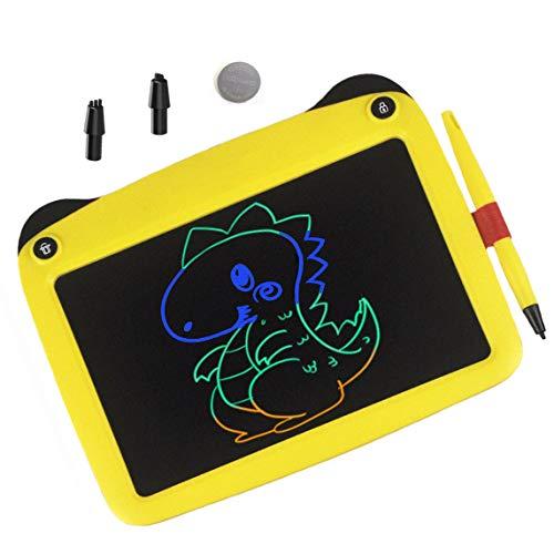 JRD&BS WINL Bunte LCD Elektronische Schreibtafel Spielzeug 4-9 Jahre Alter Junge, Teen Girl Geburtstagsgeschenk, 9 Zoll Familie Und Outdoor Handgeschriebenes Papier Zeichenbrett (Gelb)