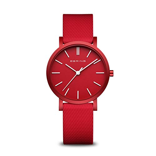 BERING Unisex Analog Quarz True Aurora Collection Armbanduhr mit Silikon Armband und Saphirglas 16934-599
