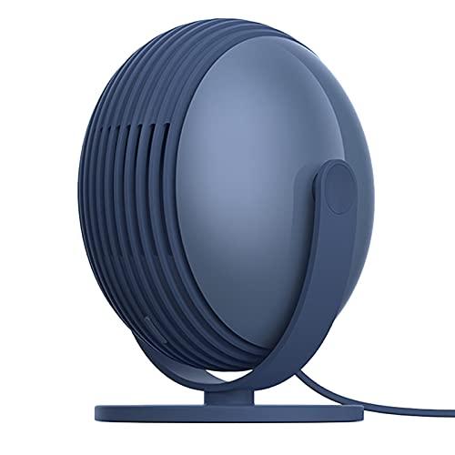 SODIAL Ventilador Sin Hojas, Ventilador de Escritorio Silencioso de Escritorio de Tres Velocidades con Enchufe USB PortáTil para Oficina y Dormitorio (Azul)