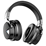 Tapvos E7 Noise Cancelling Over The Ear Headphones with Wireless Bluetooth, Built-in Microphone, Deep Bass, 28 Hours Playback, Works with Android and Windows (Black)