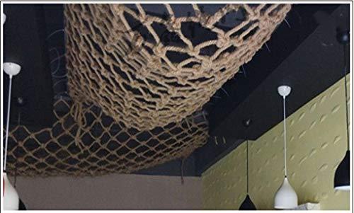 Sicherheitsnetz Hanfseilnetz Kindergarten Geländer Sicherheitsnetz Hanf Schutznetz Kinder Fall Sicherheitsnetz Hanf-Seil-Kletternetz Isolation Netz Klettern Hammock Schaukel Zaun Balkon Dach Decken Ko