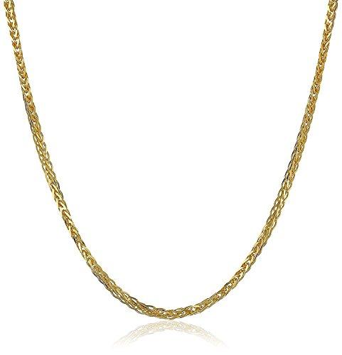 18 Karat 750 Gold Diamantschliff Spiga Weizen Gelbgold Kette - Breite 1.50 mm - Länge wählbar (45 CM)