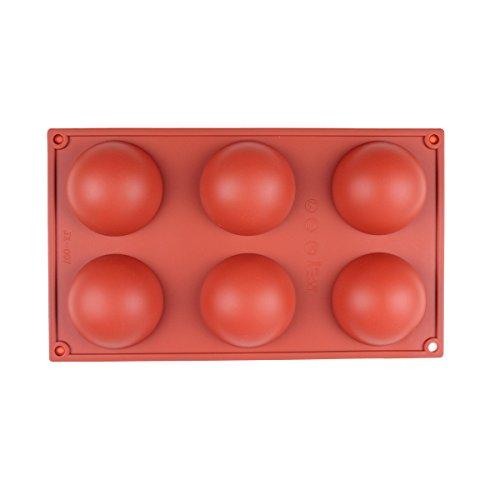 Baker Boutique Moule en silicone 6 cavités en forme de demi-coupole pour délicate confiture au chocolat, desserts. Plaque de cuisson
