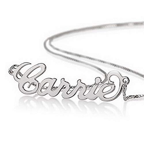 namenskette 925 Silber Personalisiert mit Ihrem eigenen Namen (45 cm)