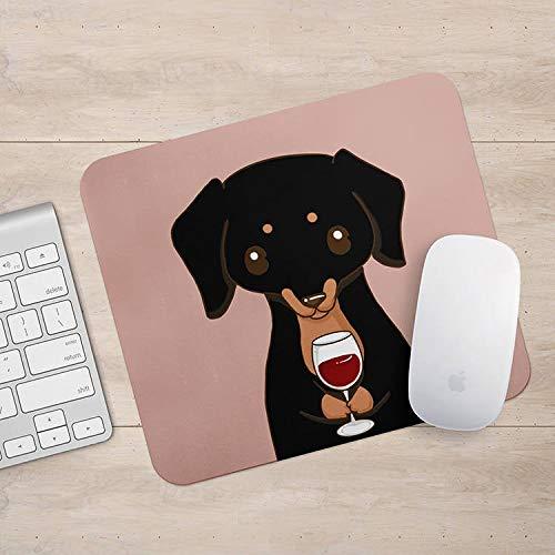 Dachshund Doxie Drink Koffie/Wijn Mousepad, Weiner Hond Muis Pad, Hond Liefhebber Gift Mousepads, Aztec Geometrische Grappige Laptop Accessoires, Size: 7.9x9.9 inches/20x25cm, Veelkleurig