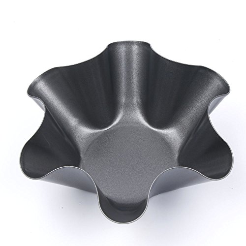 TRYAH 3 Pack Tortilla Pan SetNonStick Fluted Tortilla Shell Pans Makers in Steel For Taco Dishes