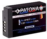 PATONA Platinum Akku LP-E17 (echte 1100mAh) - voll kompatibel, ohne Verwendungseinschränkung