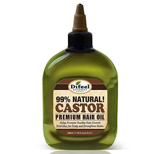 Difeel Huile de ricin naturelle de qualité supérieure à 99 % - Aide à promouvoir une croissance saine des cheveux, nourrit le cuir chevelu et renforce les racines - 235 ml (lot de 6)