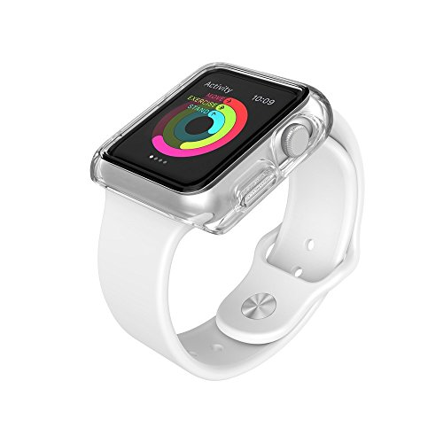 Speck 75226-5085 CandyShell Fit Clear – Custodia per Apple Watch (Serie 1), 38 mm, trasparente