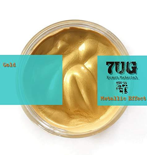 7UG Metallic Effect - Brillante Paste in Gold für Mixed Media u. Pouring Techniken