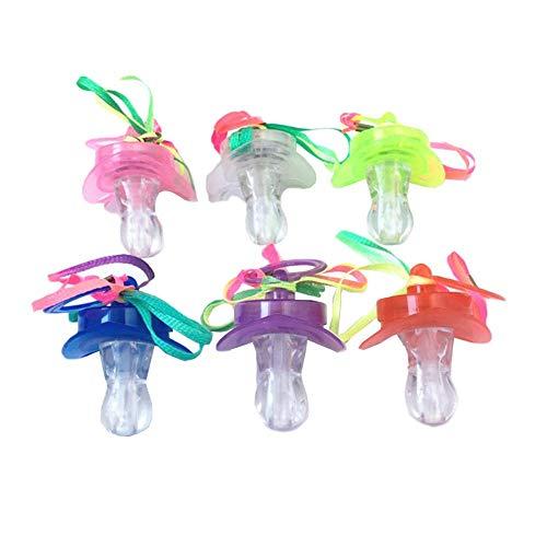 gaeruite Verschiedene LED-Schnuller, blinkende Schnuller-Spielzeug-Glühen-Schnuller-Nacht Rave Party 12pcs