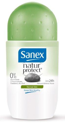 Sanex Déodorant Natur Protect Peaux Normales 50 ml - Lot de 2
