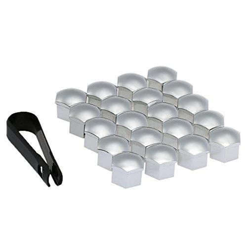 KKmoon 20st Universal 17mm Kunststoff Nut Abdeckkappe Schraube Auto Mutter Covers Bolt Radkappen