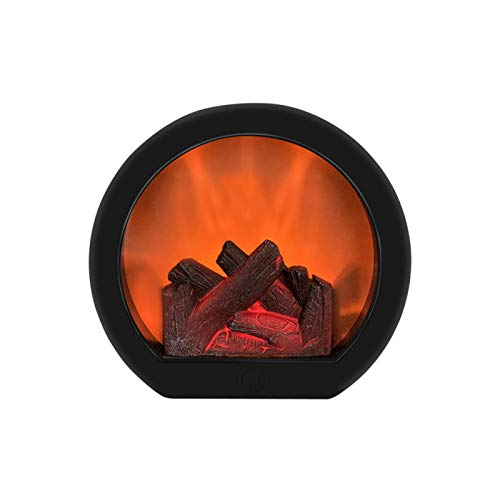 POHOVE Simulation Fireplace Lantern,Realistic Led Fireplace Lantern with...