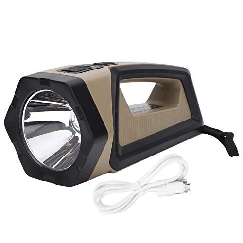 Searchlight Linterna para Exteriores Luz de Doble Cara P50 Lámpara de minería portátil Impermeable Carga USB con luz roja
