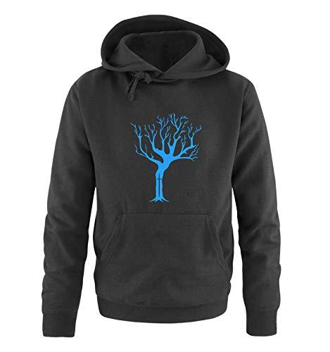 Preisvergleich Produktbild Just Style It - Weirwood Tree - Game of Thrones - Herren Hoodie - Schwarz / Blau Gr. XL
