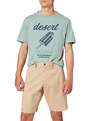 GANT D1. Relaxed Twill Shorts Pantalones Cortos, Dark Khaki, 33 para Hombre