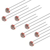 sourcing map 50 pz Fotoresistore Kit, 5mm Foto Sensibile Luce Dipendente Resistore con Scatola Libera per Arduino DIY e Esperimenti, 5506,GL5506