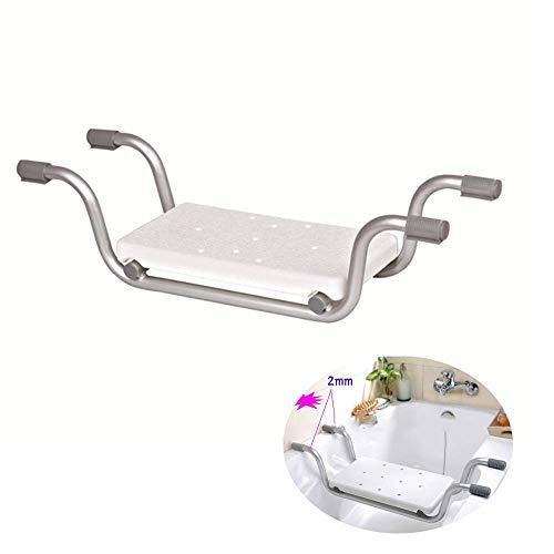 ZXL Tragbare Duschbank - Duschsitz aus Aluminium - Geeignet für die meisten Badewannen, komfortabler, konturierter Sitzbereich, tragbar und leicht zu verstauen