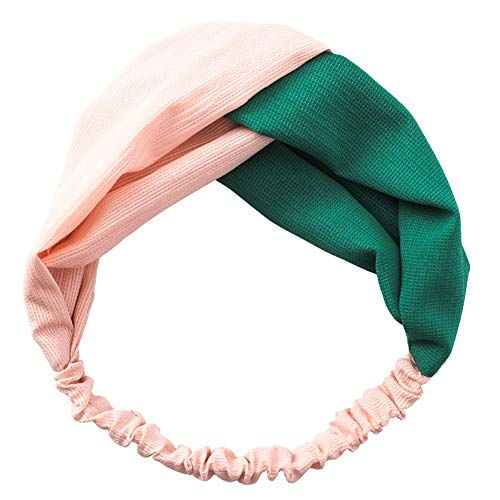 Haodou Candy - Diadema elástica de color cruzado, elástica, elástica, elástica, para el pelo, para yoga, mujer, niña