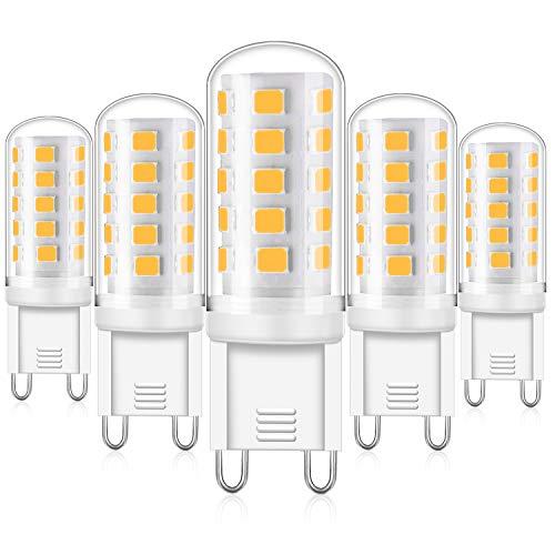 Eco.Luma G9 LED Dimmbar Warmweiß, 4W Led Lampe Ersatz 25W 28W 33W 40W Halogenlampe, G9 Sockel Led leuchtmittel 2700K 420LM Kein Flackern, AC 220-240V, 5er Pack