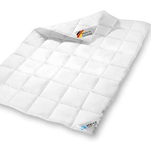 etérea Mikrofaser Steppdecke - Winterdecke Frieda Extra Warm - anschmiegsam und Allergiker geeignete Bettdecke, Made in Germany, 135x200 cm, Weiß