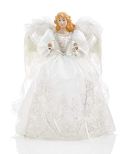 Holiday Lane American Angel with White Dress Tree Topper